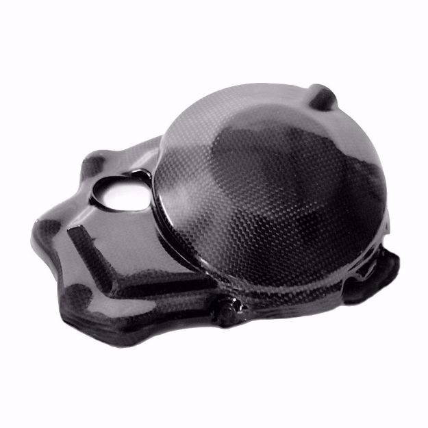 Picture of Carbon Racing clutch cover protector suitable for Kawasaki ZX 10