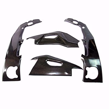 Picture of Carbon Racing frame,d swing protector set suitable for Aprilia RSV 4