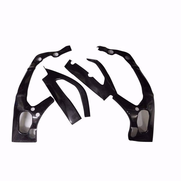 Picture of Carbon Racing frame and swingarm protector set suitable for Suzuki GSXR 1000 L7/L8