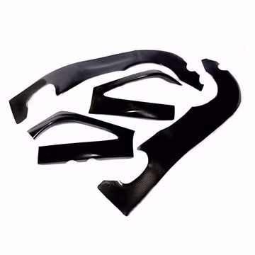 Picture of Carbon Racing frame and swingarm protector set suitable for Yamaha R1