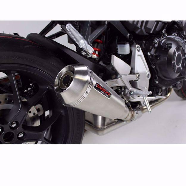 Bild von TAKKONI Edelstahl-Endtopf, passend für Honda CBR 500 R, CB 500 F