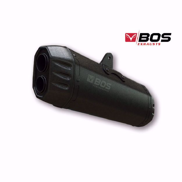 Picture of BOS Slip-on muffler Desert Fox black edition for BMW R 1200 R/RS