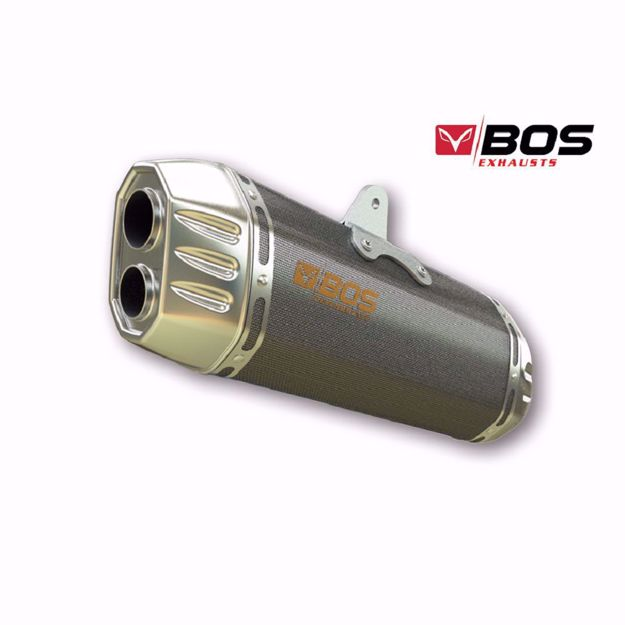 Picture of BOS Rear silencer Desert Fox, carbon steel, BMW R 1250 GS/Adventure