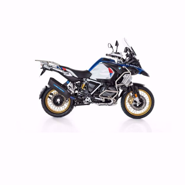 Picture of BOS Slip-on Rear silencer Desert Fox black/Rallye edition for BMW R 1250 GS/Adventure