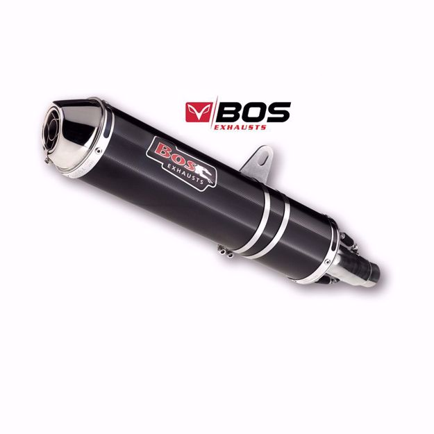 Picture of BOS Rear silencer carbon-steel Honda CBR 500 R