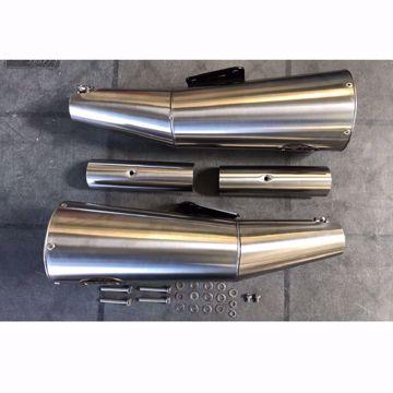 Picture of ZARD Rear silencer stainless steel MOTO GUZZI V9 Bobber - Roamer