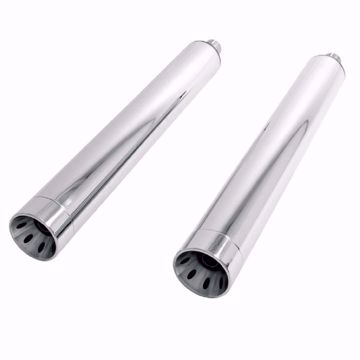 Picture of HIGHWAY HAWK Rear silencer Straight cut, suitable for Indian, chrome