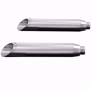 Picture of HIGHWAY HAWK Rear silencer Slash cut, suitable for Indian Scout