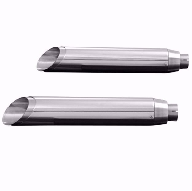Picture of HIGHWAY HAWK Rear silencer Slashcut, suitable for Victory Vegas 1800/Jackpot/8-Ball